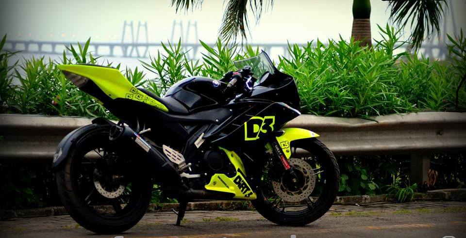 R15 V2 Modified With Projector Lights Yamaha R15 V2 M...