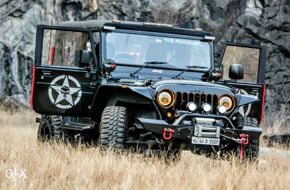 Mahindra Thar Modified India Led Stips Projectors