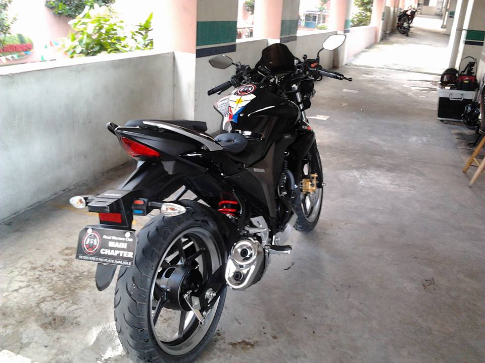 Modified Gixxer 155 rear