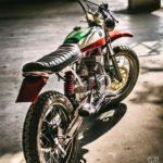 Modified Yamaha RX100 Scrambler