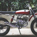 Modified Yamaha RX 100 Scrambler