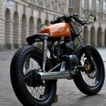 Modified Yamaha RX135 Cafe Racer