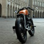 Modified Yamaha RX135 rear fat tyres