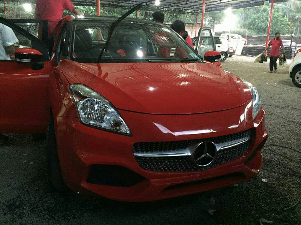 Suzuki Baleno to Mercedes Modification