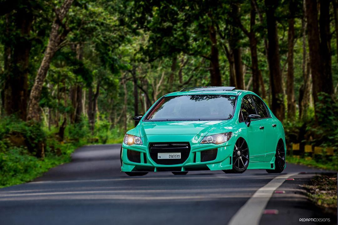 Honda Civic 2016 Modified >> Mint Green Honda Civic K-Break from Kerala – ModifiedX