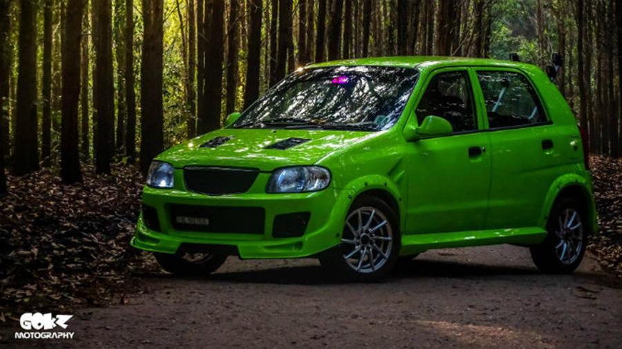Maruti Alto 800 Modified Green Kerala Modifiedx