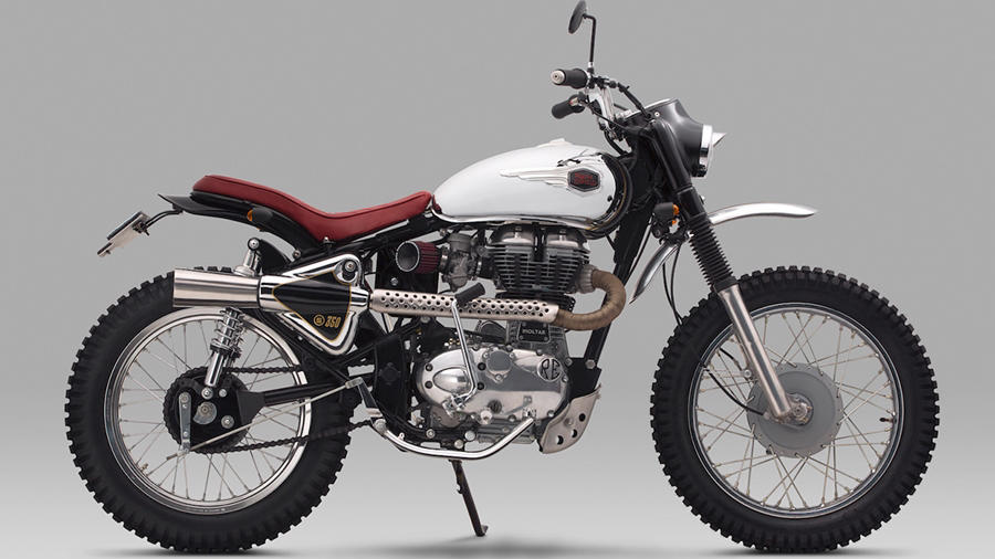 modified re bullet 350 scrambler moltar modifiedx. Black Bedroom Furniture Sets. Home Design Ideas