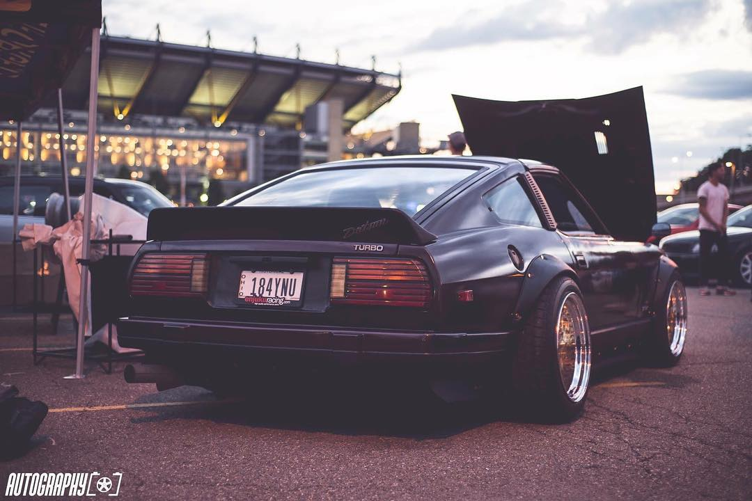 Modified Nissan S130 rear