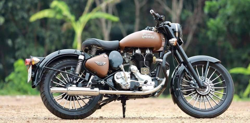Brown coloured modified Class 350 bullet