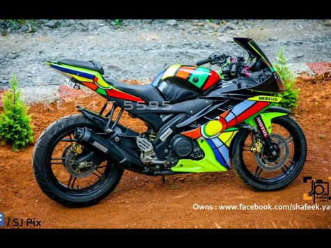 Modified sticker Yamaha R15