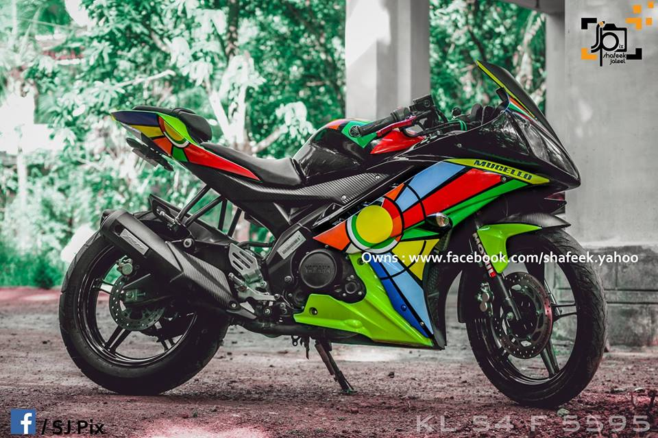 Stickers for Yamaha R15 paint