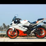 Yamaha R15 Orange white modification