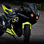 Modified Black green yamaha R15