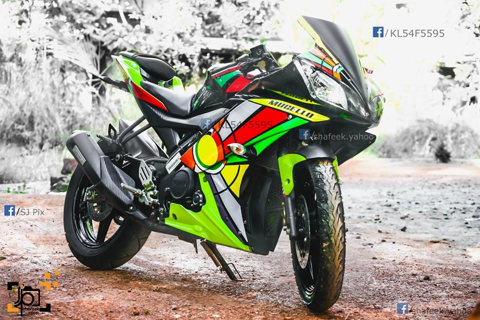 Yamaha R15 V2 Modified In Kerala Abstract Stickers