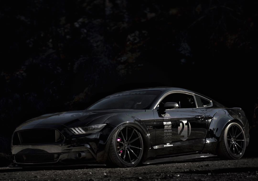 Black Ford Mustang S550 Gt Modified Modifiedx