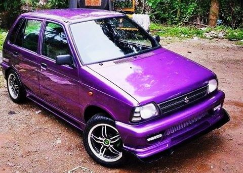 Modified Violet Maruti 800 With Body Kit Modifiedx