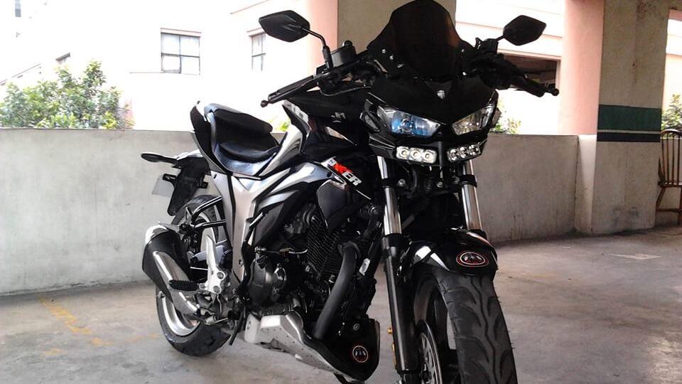 Modified Suzuki Gixxer 155