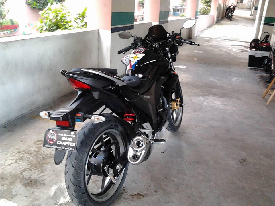 Modified Gixxer 155 rear