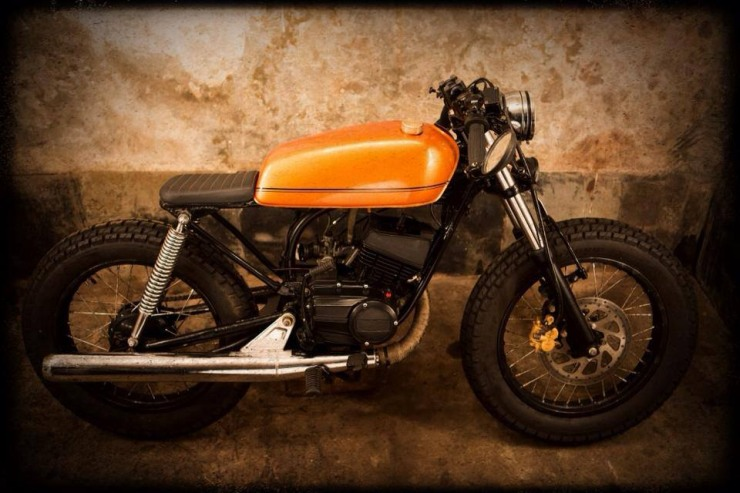 Yamaha RX135 Modified Cafe Racer by Bombay Custom Works ...