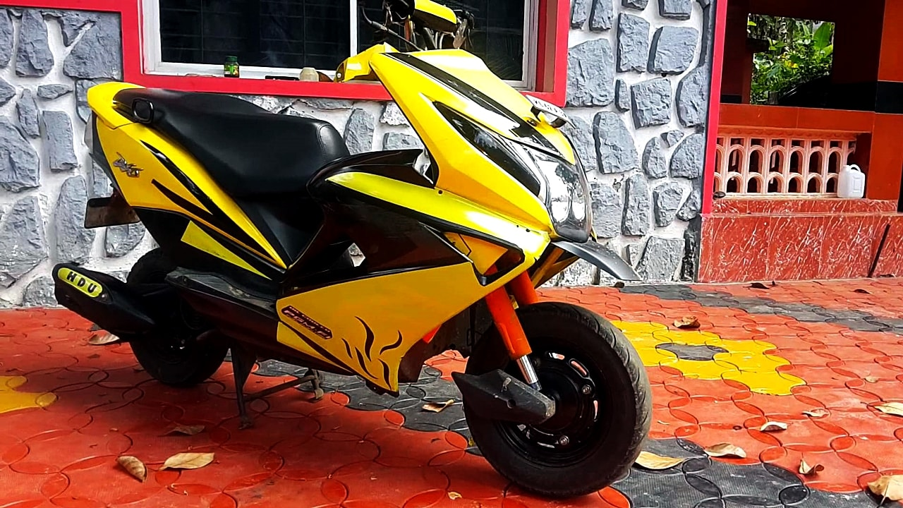 Modified Yellow Honda Dio With Zmr Kit Modifiedx