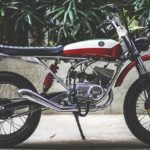 Modified Yamaha RX 100 Scrambler