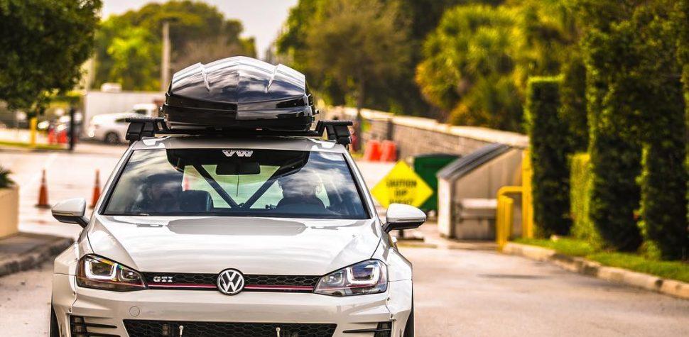 Volkswagen Gold Mk7 Gti Rs Rocket Bunny Wide Body Modified Modifiedx