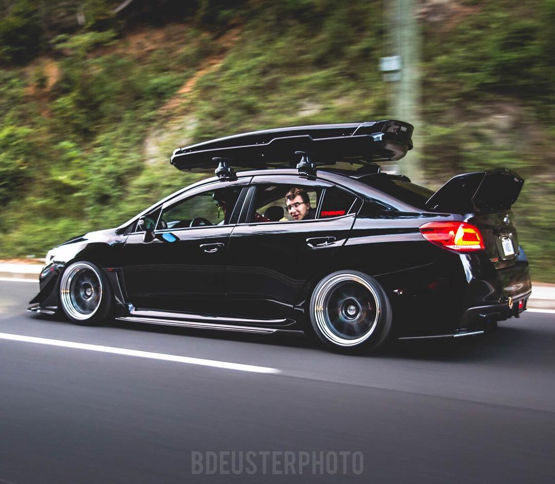 Custom Subaru WRX STi (modified) black - ModifiedX
