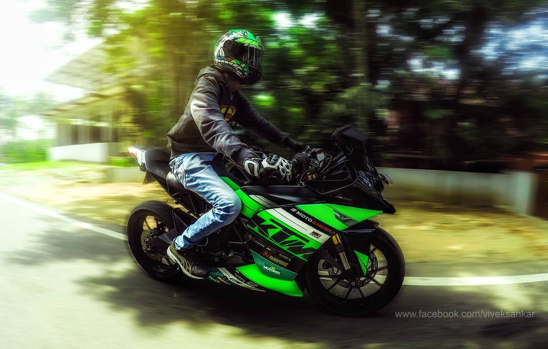 KTM RC 200 green Kerala
