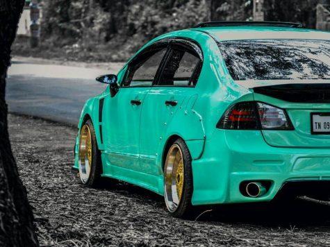 Honda Civic Body kit green