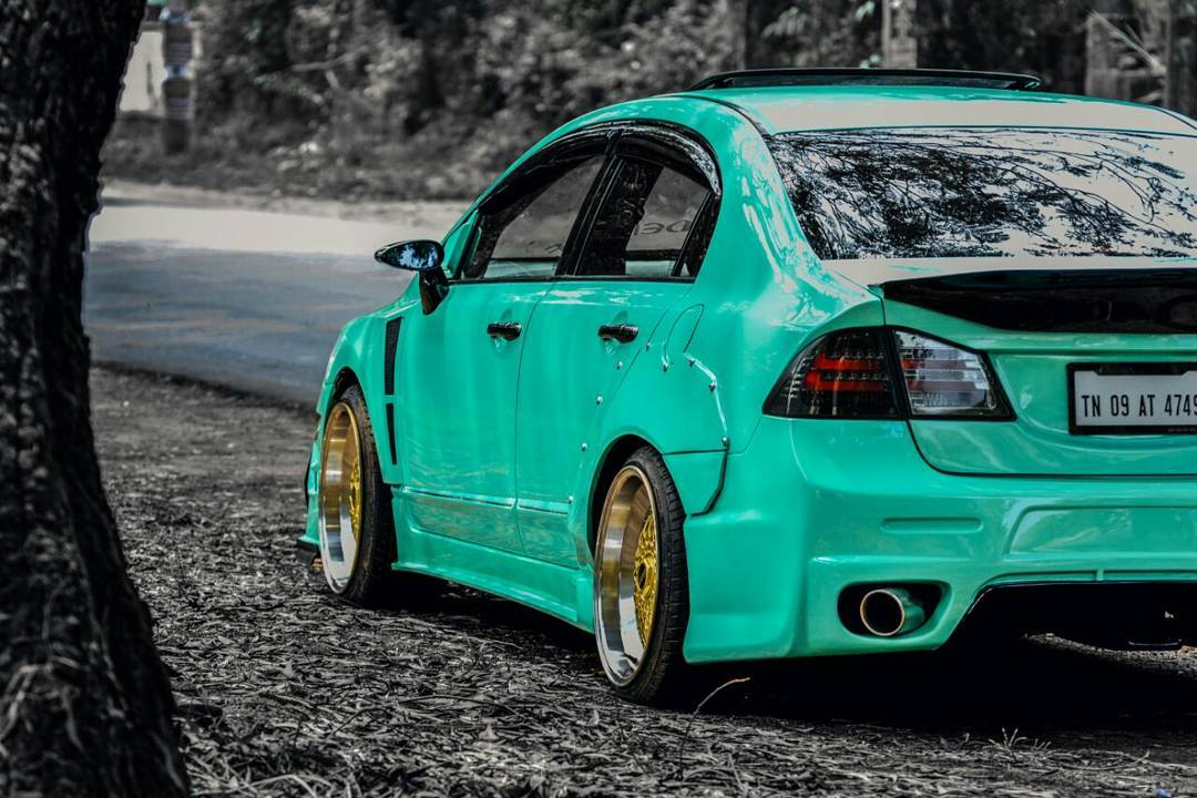 Honda Civic Body kit green