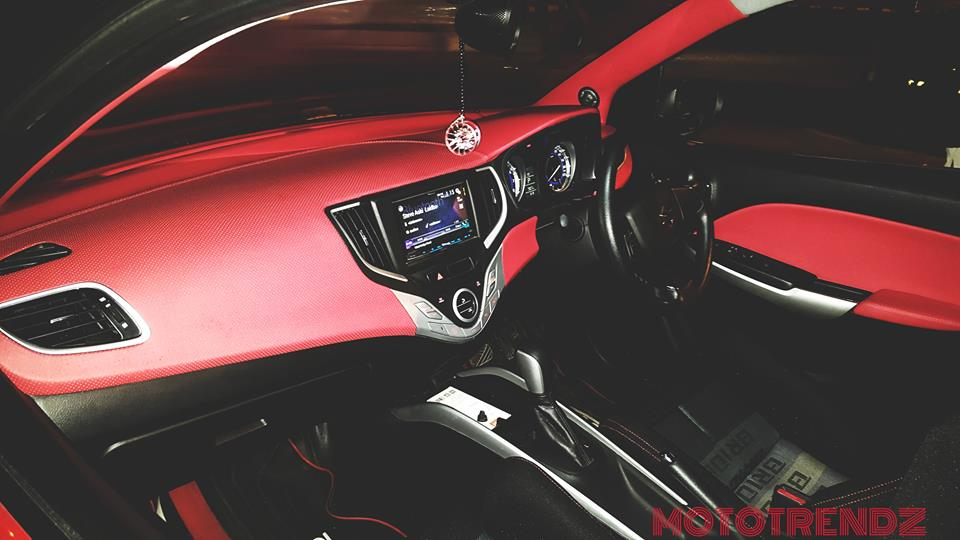 Baleno red interior