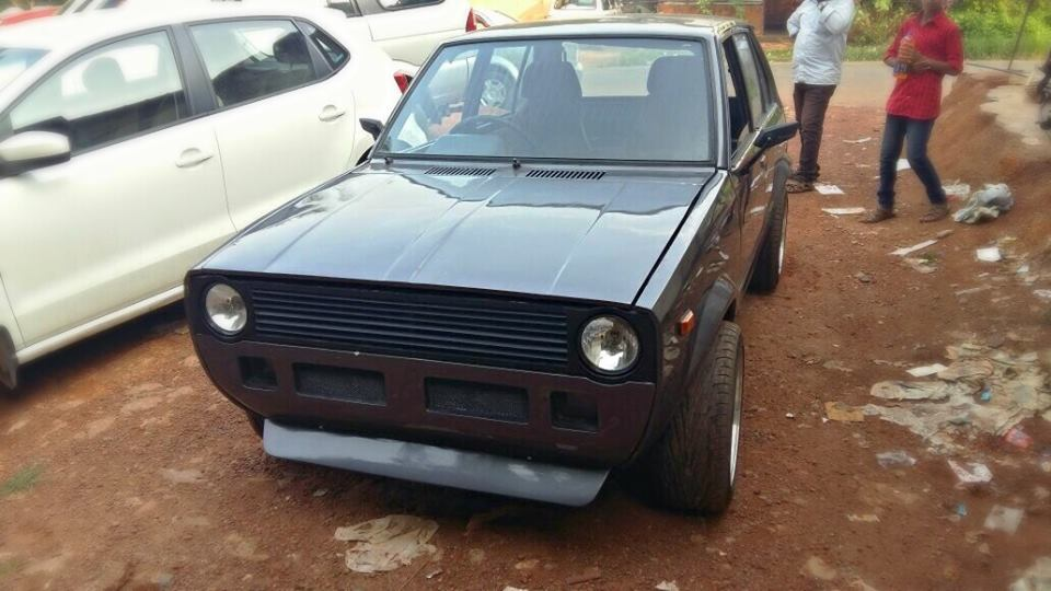 Maruti 800 Ss80 Modified To Look Like Vw Golf Gti Mk1