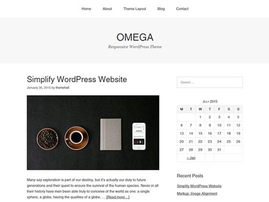 Wordpress theme simple