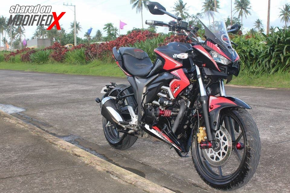 Suzuki Gixxer Modified Red Z1000 Inspired Tourer Modifiedx
