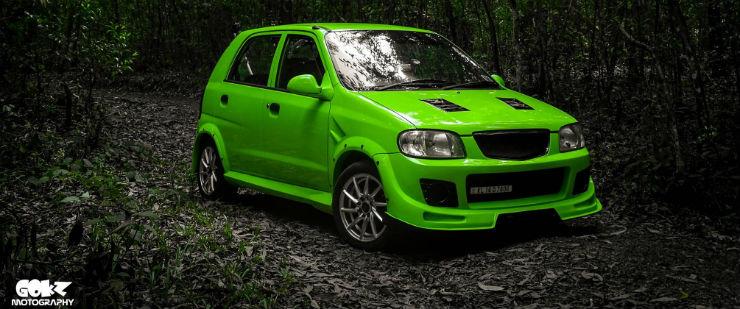 Maruti Alto 800 Modified 'Green' Kerala - ModifiedX