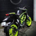 Matte Black green KTM Duke 200