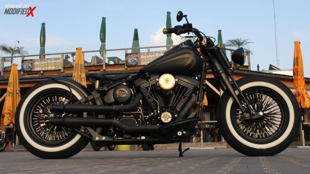 Custom Harley Davidson Softail Evo Springer Bobber Modifiedx