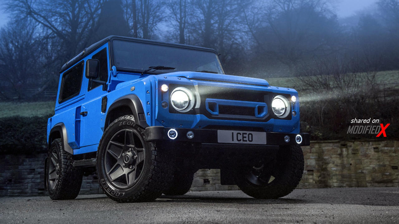 Custom defender blue