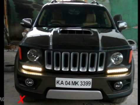 Modified Toyota Fortuner front
