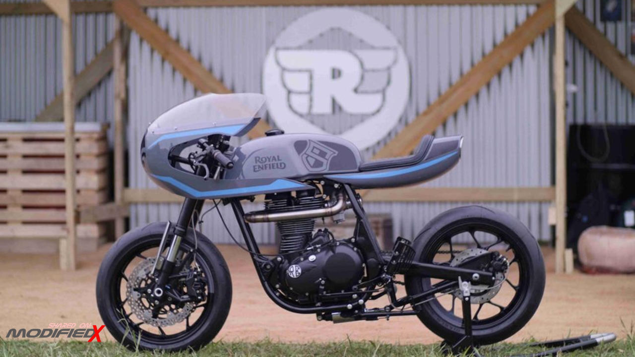 Modified Royal Enfield Continental Gt Surf Race With