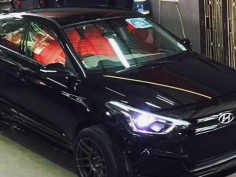 Hyundai i20 custom black