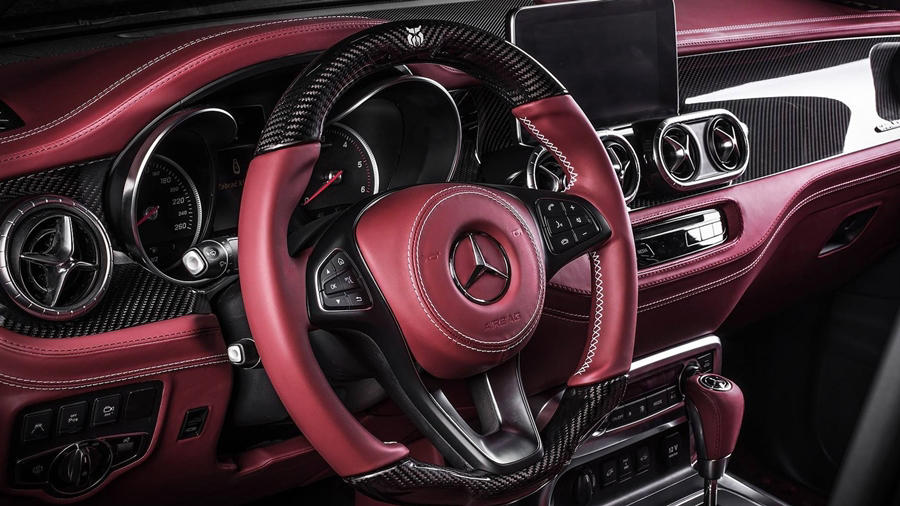 Mercedes X-Class custom red interior