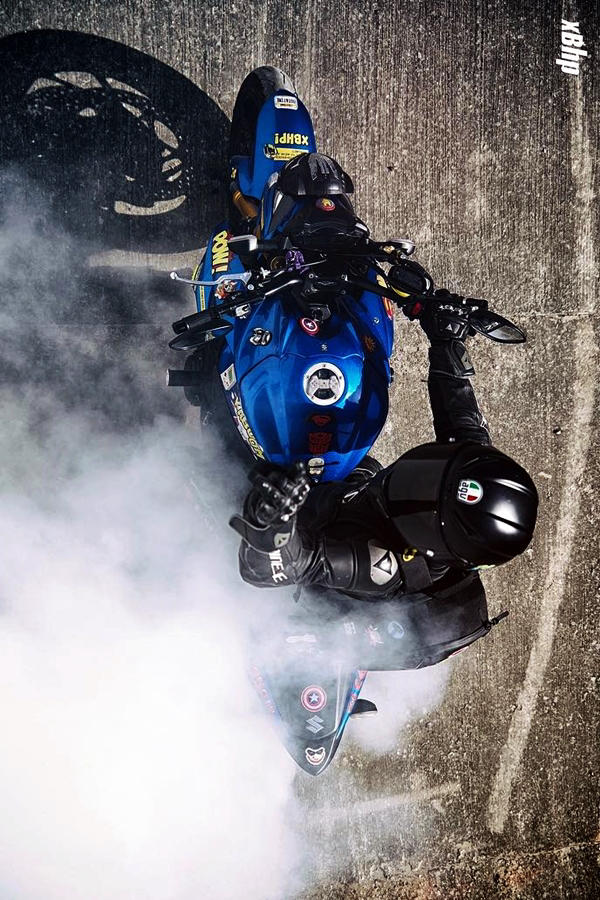 Custom GSX S1000 Suzuki burnout modified