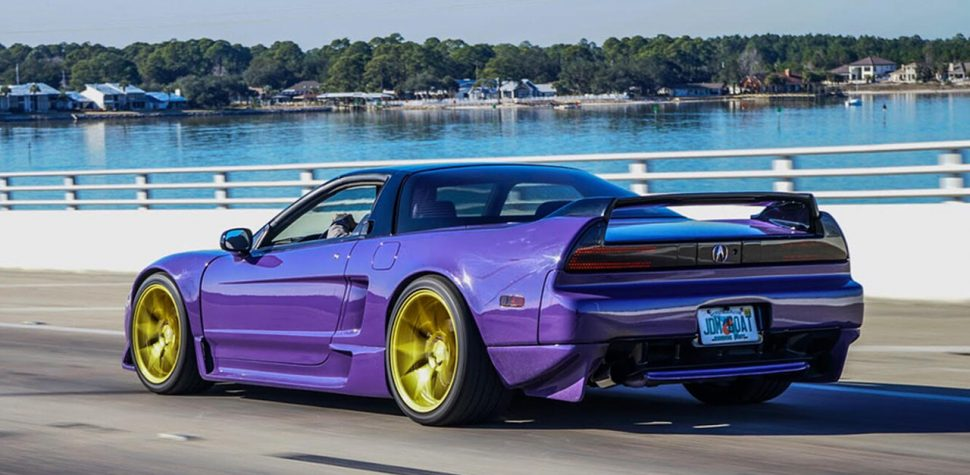 Custom Acura NSX ultraviolet purple shade