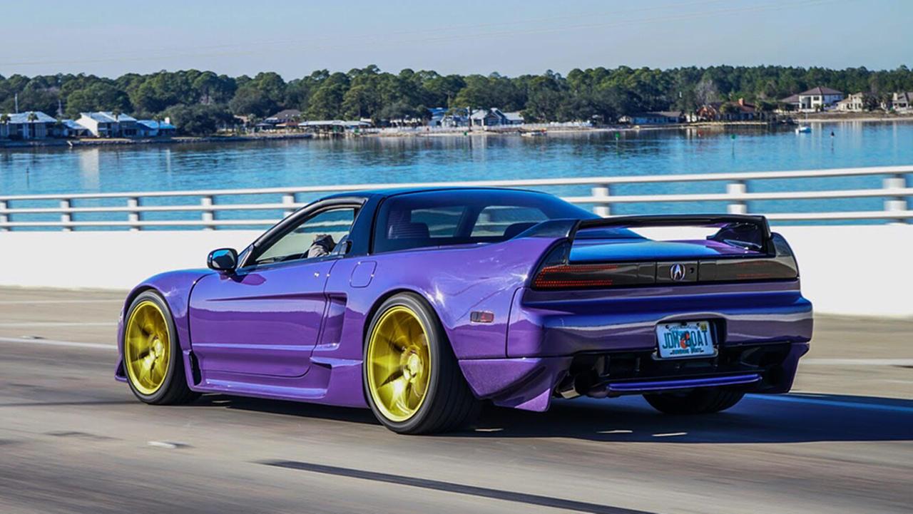 Custom Acura NSX ultraviolet purple shade