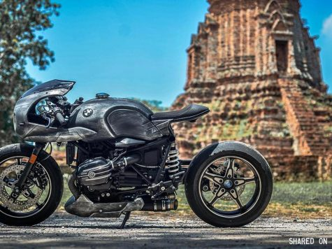 Custom BMW R NineT Racer rust cafe