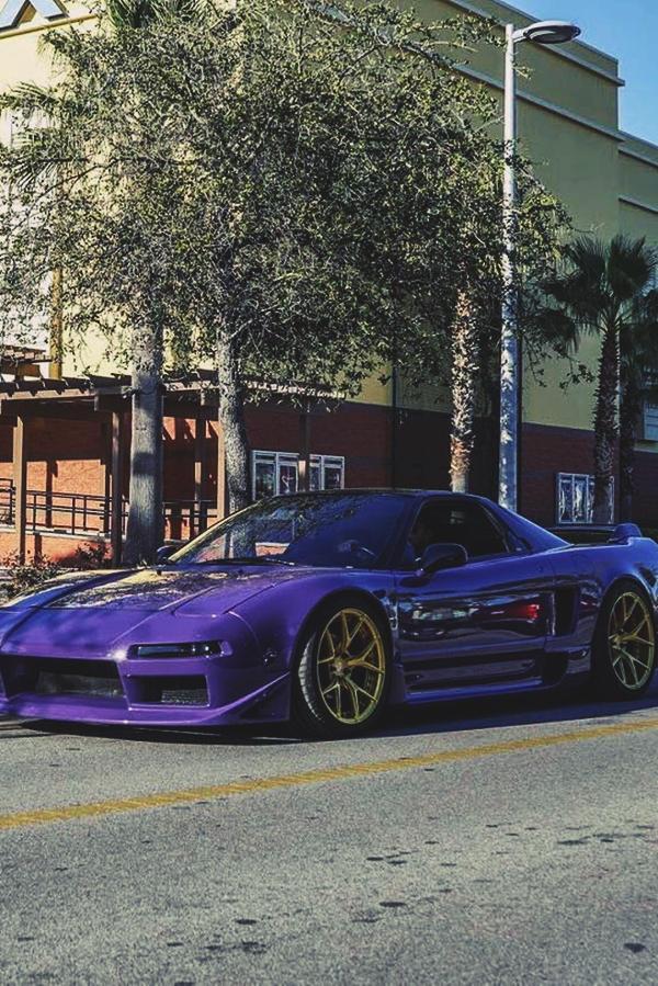 Custom Purple Acura NSX Florida