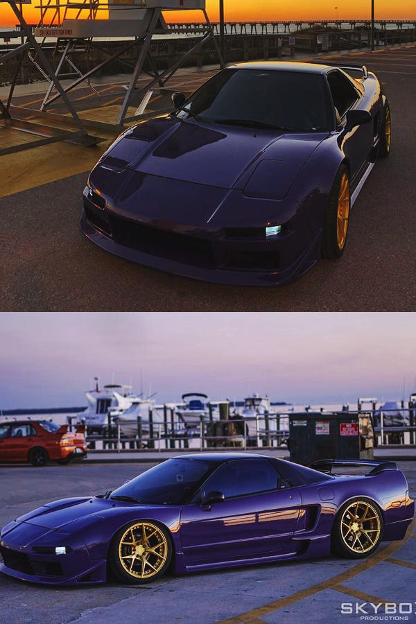Modified Honda NSX with Gold Rims