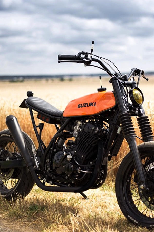 Custom Suzuki DR650 orange