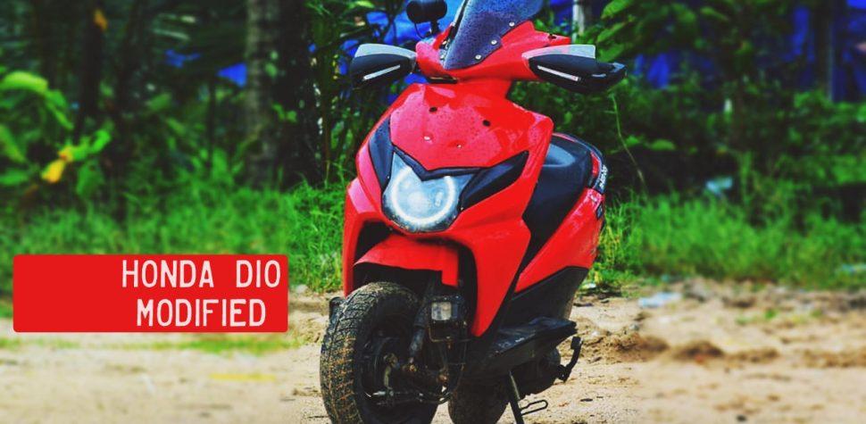 Honda Dio Modified red